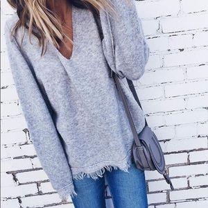 Free People Frayed Sweater